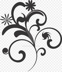 black and white flower clip art vector png flower black and white clip art flower