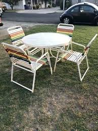 round table merced ca outdoor lawn yard patio furniture set round metal glass table with 4