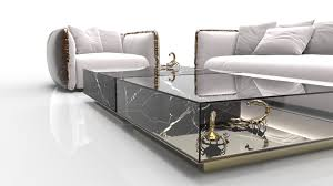 but nothing is quite as impressive or speaks of sophistication more eloquently than marble coffee and side tables