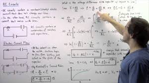 rc circuits charging capacitors and equation derivations
