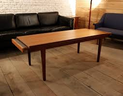 Stylish Pull Out Coffee Table With Mid Century Spanish Teak Coffee Table  With Pull Out Trays