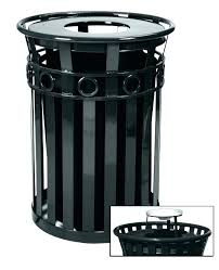 decorating outdoor metal trash can cans outdoors bin suppliers and ho