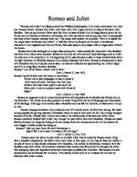 romeo and juliet tragedy of character essay romeo and juliet as a tragedy of fate or character essays papers