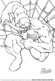 Small Picture Spider Man Coloring Page Venom