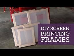 DIY screen printing frames | CharliMarieTV - YouTube