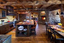 Contemporary Rustic Open Kitchen Designs Wood R Inside Creativity Design
