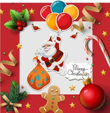 Merry Christmas Logo Vector Ai Free Download