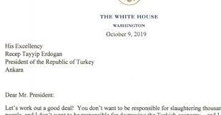 Read Trumps Letter To President Erdogan Of Turkey The New