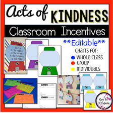 Class Incentive Chart Printable Acts Of Kindness Classroom Incentive Charts Editable