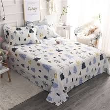 100 cotton sheets king. Perfect Sheets Cartoon Cute Colorful Christmas Tree Pattern 3Pcs 100 Cotton Bed Sheets  KingQueen Size Inside 100 King E