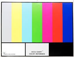 Colour Chart Video Found Standards Jon Malis