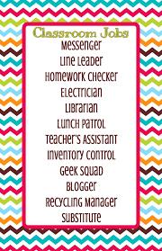 4th Grade Classroom Job Chart Learning Environment Carlin Liborio