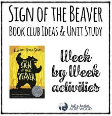 Book Units Teacher Native American Chart Sign Of The Beaver Book Club Ideas Unit Study Half A