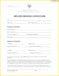 Employee Emergency Contact Information Template Employee Emergency Contact Template