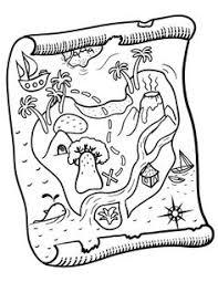 Small Picture Preschool coloring page of treasure map printable Fantasy