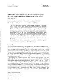 article good mother and prof teacher gender and education 2