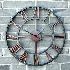 copper wall clock uk oversized huge clocks 5 foot hammered outdoor glamorous large cl copper wall clock uk