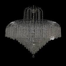 Full Size of Chandeliers Design:marvelous Chrome Chandelier Fides Shaded  Grey Effect Lamp Pendant Ceiling ...