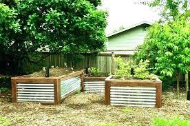 steel raised garden beds corrugated