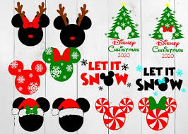 Free christmas mickey mouse snowflake svg set that you can cut out with your favorite craft cutter. Disney Christmas Bundle Mickey Christmas Svg Snowflake Etsy
