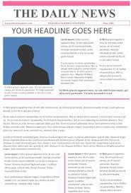 Newspaper Article Template Free Newspaper Template For Word Newspaper Template Newsletter Ideas