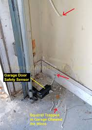 garage door sensor blinkingHow to Repair Garage Door Safety Sensor Wires