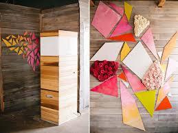 bridal shower geometric wall decor