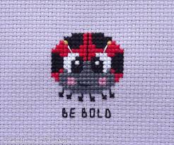 Fuzzy Fox Designs Bold Little Ladybug Cross Stitch Pattern Pdf Seven Mini