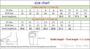 Big Kids Shoe Size Chart Unisex Children Fashion Shoes For Kid Boys Girls Breathable Casual Shoes Kids School Shoes 7 Size Euro 26 36 Autumn 2018 Kids Dance Shoes Youth
