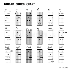 Music Notes Chart Guitar Set Of Music Notes Abstract Musical Background Basic