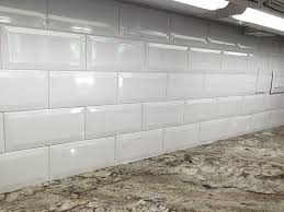 4X8 Soft White Wide Beveled Subway Ceramic Tile Backsplashes Walls Kitchen  Shower - - Amazon.com