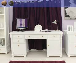 baumhaus hidden home office 2. baumhaus hampton twin pedestal computer desk amazoncouk kitchen u0026 home hidden office 2