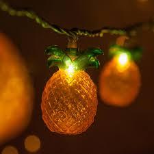 Pineapple Light Wintergreen Lighting 9 Ft 10 Light Pineapple String Light Set