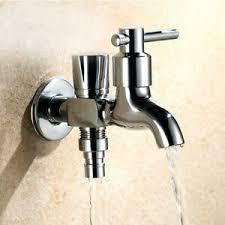Waschmaschine wasserhahn mit rückflussverhinderer : G1 2 Doppelkopf Wasserhahn 1 Einlass 2 Auslass Dual Use Waschmaschine Wasserhahn Ebay