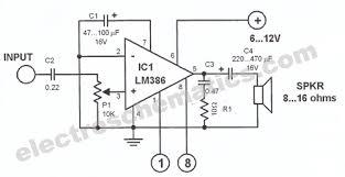 lm386 audio amplifier circuit lm386 audio amplifier circuit schematic