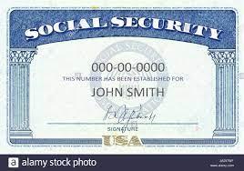 Amerikanische Social Security Card ...