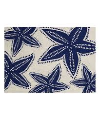 love this product starfish navy hook wool rug