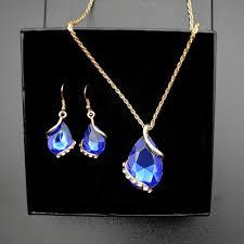 full set teardrop pendant. Wedding-Bridal-Teardrop-Pendant-Necklace-Jewelry-Set-Water- Full Set Teardrop Pendant