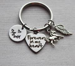 forever in my heart horse memorial keychain loss of horse gifts horse memorial