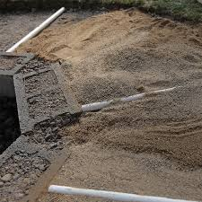 covering the pvc pipes with sand