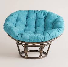 Interesting Papasan Chair Ideas With Aqua Blue Papasan Cushion