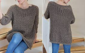 Crochet Oversized Sweater Pattern
