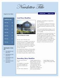 Newsletter Templates Microsoft Word Beautiful Real Estate