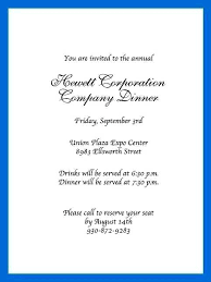 Formal Dinner Invitation Sample Corporate Dinner Invitation Template Formal Party Business