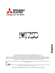 Mitsubishi Electric M750 User guide ...