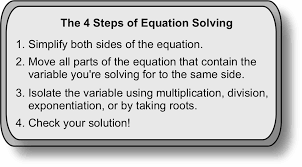 4 step guide to solving equations part