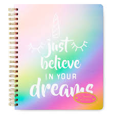 At A Glance Academic Planner 2020 17 Believe In Your Dreams 2019 2020 17 Month Agenda Weekly Planner Personal Organizer Unicorn Multi