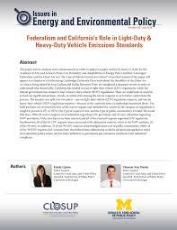 Ldv Light Duty Vehicle Federalism And Californias Role In Light Duty Heavy Duty