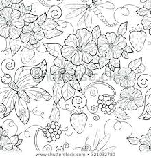 Pictures Of Flowers Coloring Pages Coloring Large Flower Coloring