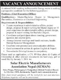 Solar Electric Manufacturers Association Nepal - Chief Executive ...